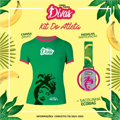 Corrida divas 2017 kit do atleta