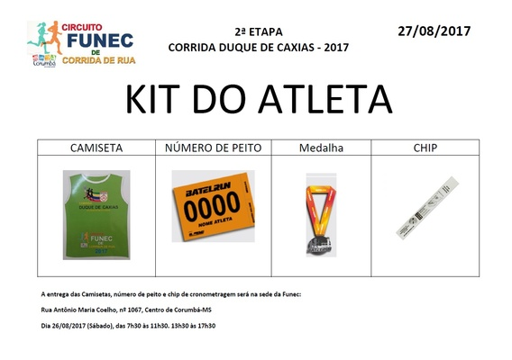 Kit do atleta   duque de caxias