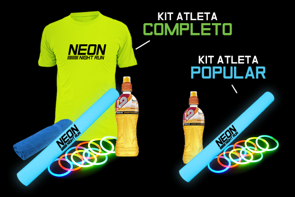 Neon kit central da corrida bitmap