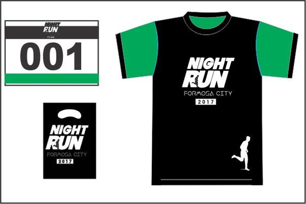 Arte night run 2017 camiseta