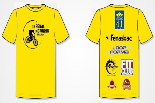 Camiseta 3%c2%ba pedal noturno da asbac