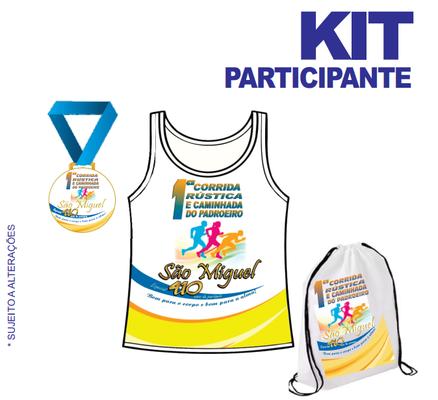 Kit participante corrida