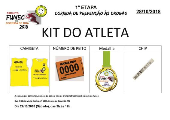 Kit do atleta   1%c2%aa etapa pequena