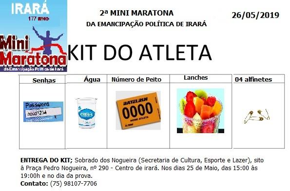 Kit do atleta
