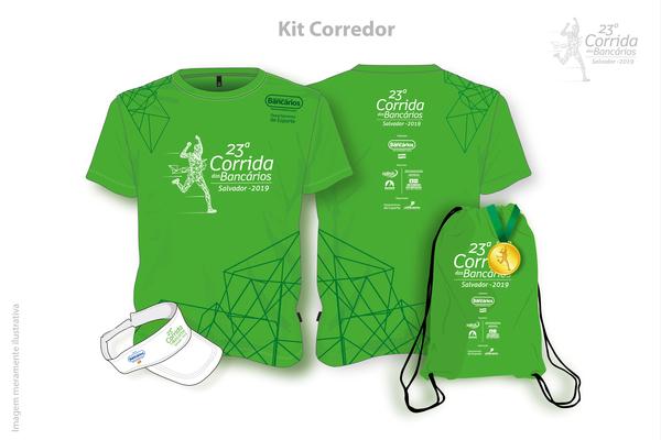 23 corrida 2019 kit corredor