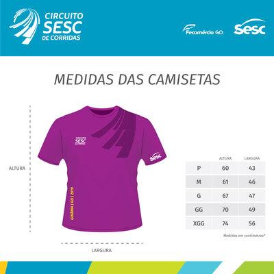 Circuito corrida 2019 camisetas medidas