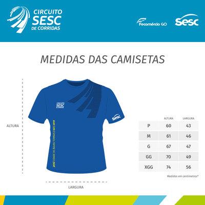 Circuito corrida 2019 camisetas medidas jatai