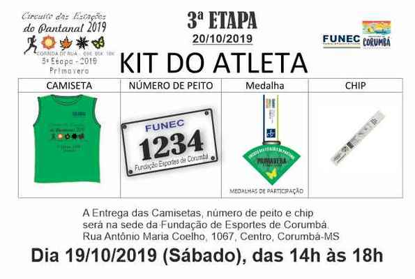 Kit do atleta 3%c2%aa etapa primavera   2019