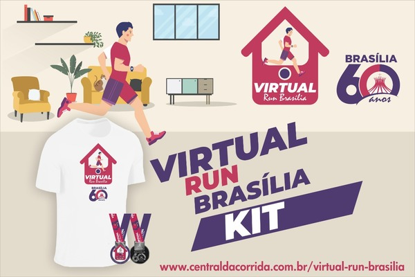 Card do kit virtual run brasilia 2020