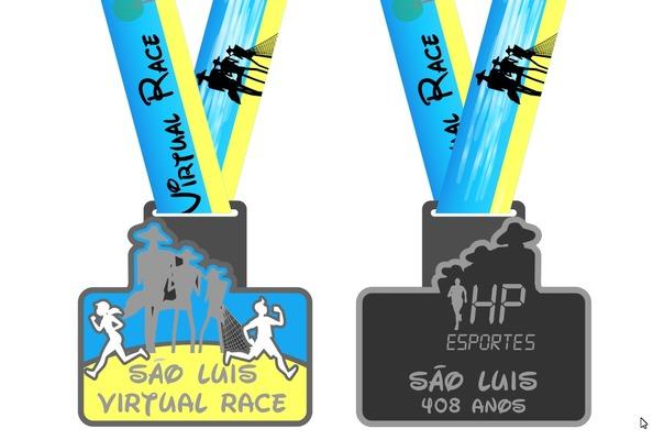 Medalha saoluisvirtualrace