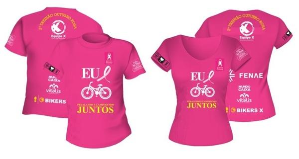 Camiseta outubro rosa oficial