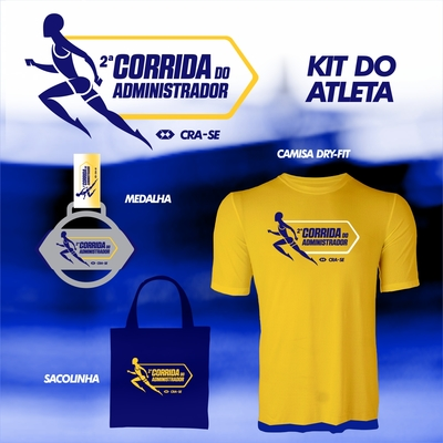 Corrida do administrador 2016 kit do atleta