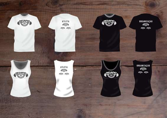 Desafio das academias   camiseta