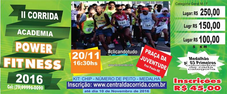 II Corrida Academia Power Fitness