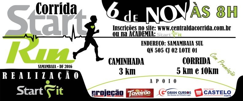 Corrida Start Run - Samambaia-DF 2016
