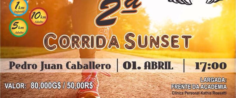 2ª CORRIDA  5 km SUNSET 10 ANOS DA CLINICA DE PERS