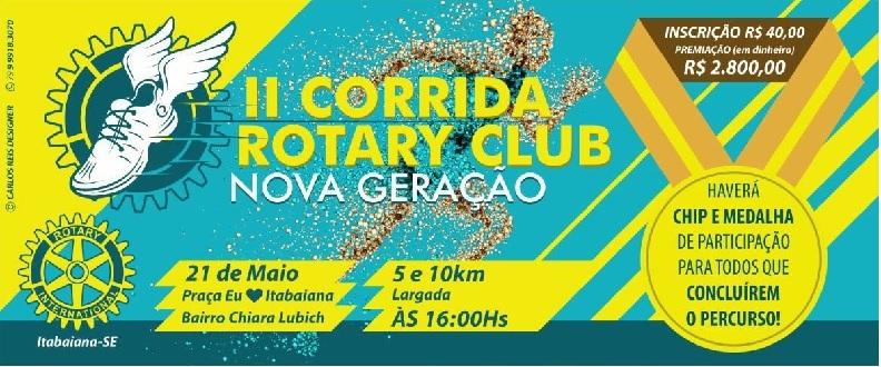 II CORRIDA ROTARY CLUB NOVA GERAÇÃO - ITABAIANA SE