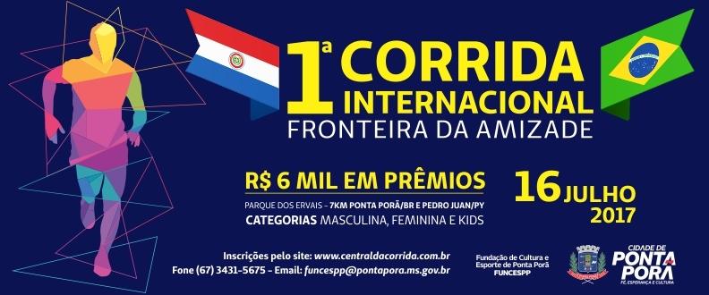 1ª CORRIDA  INTERNACIONAL FRONTEIRA DA AMIZADE