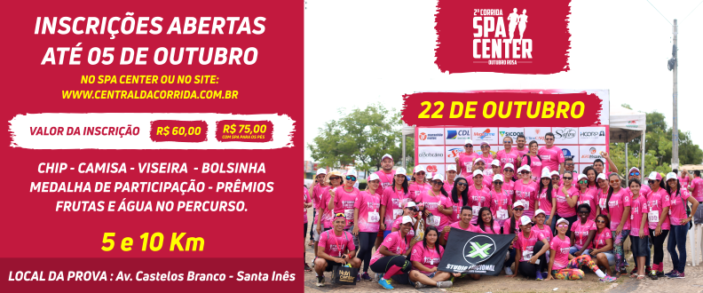 2ª Corrida Spa Center Outubro Rosa