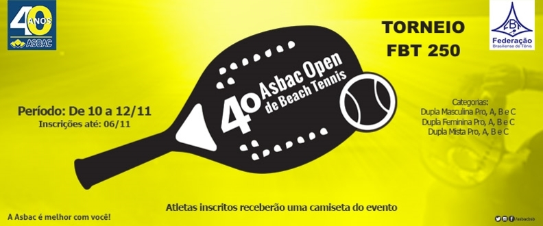 4º Asbac Open de Beach Tennis