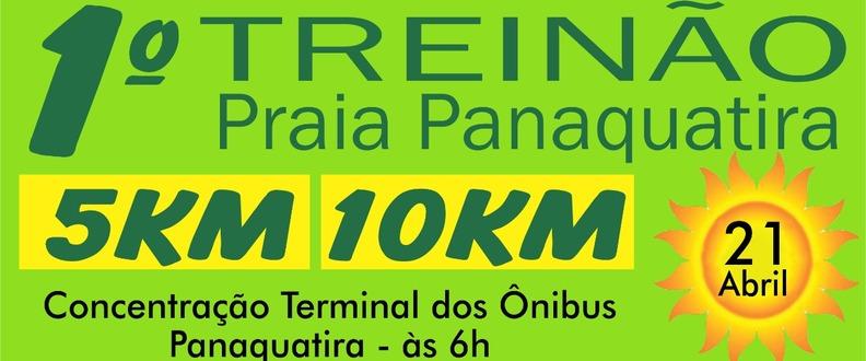 1° Treino corrida praia panaquatira