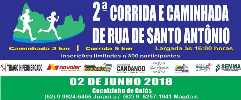 II CORRIDA E CAMINHADA DE RUA DE SANTO ANTONIO