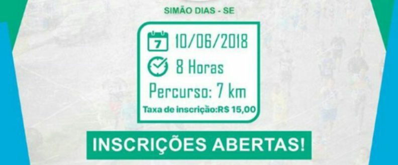3ª CORRIDA CIDADE SIMÃO DIAS/SE SEC ESPORTE LAZER