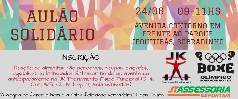 AULÃO SOLIDÁRIO - SOBRADINHO/DF