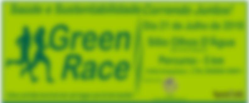 Banner central da corrida green race 2018