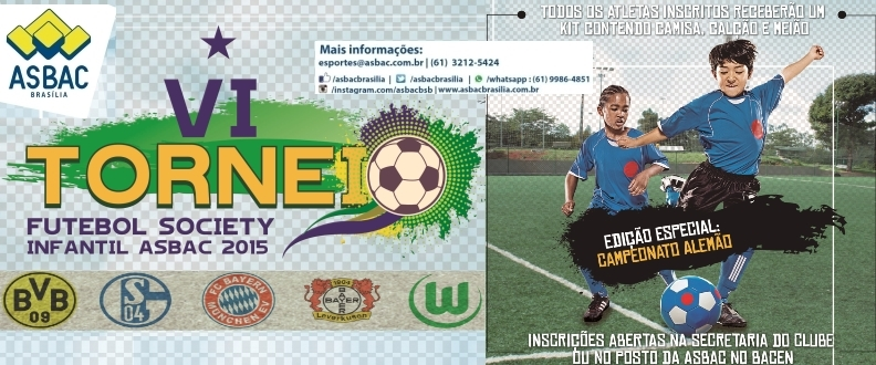 VI Torneio de Futebol Society Infantil da Asbac