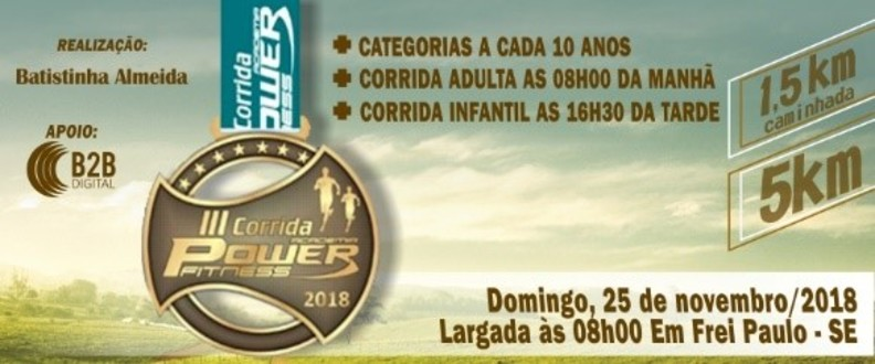 III Corrida Academia Power Fitness