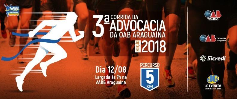 III CORRIDA DA ADVOCACIA DA OAB ARAGUAÍNA