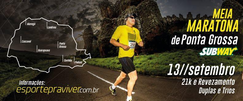 Meia Maratona de Ponta Grossa SUBWAY® 2015