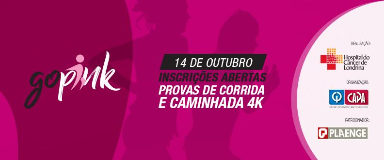 GO PINK - CORRIDA DO OUTUBRO ROSA 2018