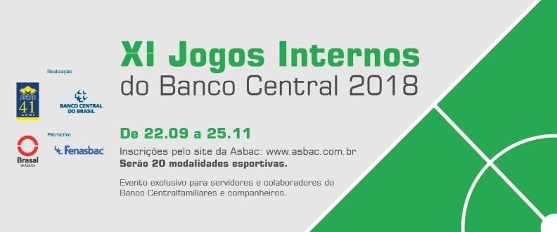 XI JOGOS INTERNOS DO BANCO CENTRAL 2018