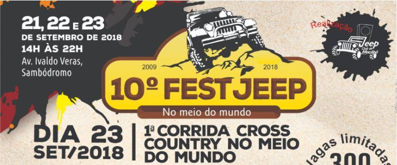 1ª CORRIDA CROSS COUNTRY NO MEIO DO MUNDO