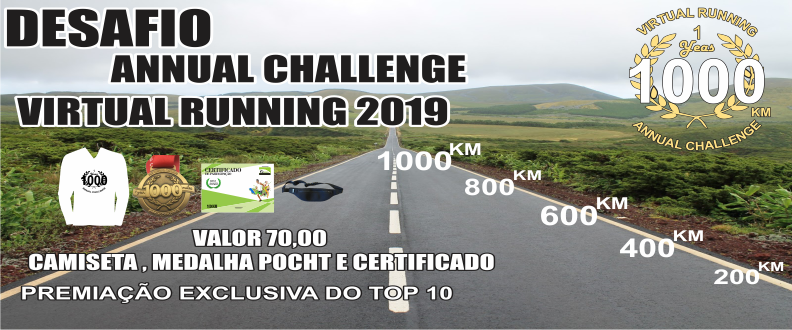 DESAFIO ANNUAL CHALLENGE VIRTUAL RUNNING 2019 1000