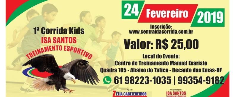 1° corrida kids Isa santos treinamento esportivo