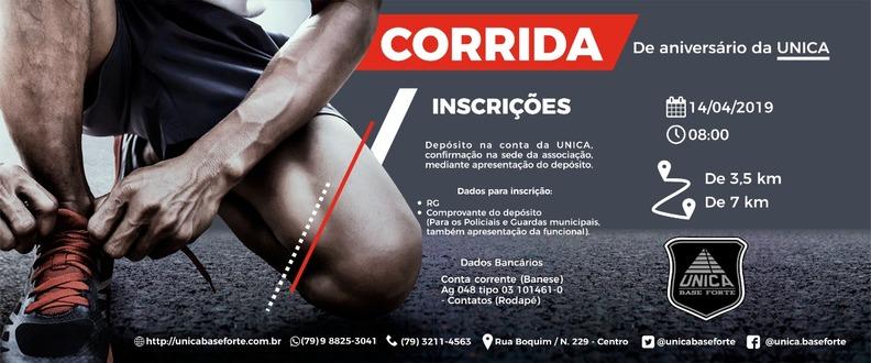 CORRIDA DA UNICA - Evento CANCELADO