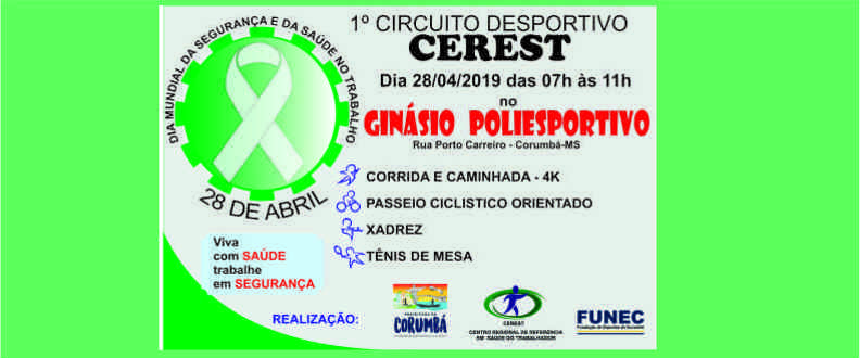 1º FESTIVAL CEREST - CORUMBÁ-MS