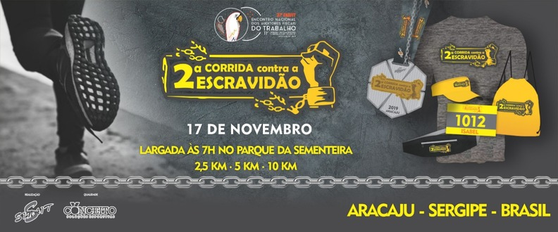2ª Corrida Contra Escravidão - Aracaju/SE 2019