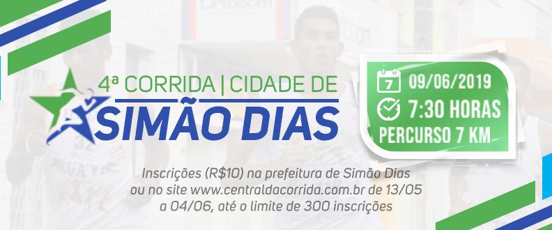 4ª CORRIDA CIDADE DE SIMÃO DIAS  SEC DE ESPORTE