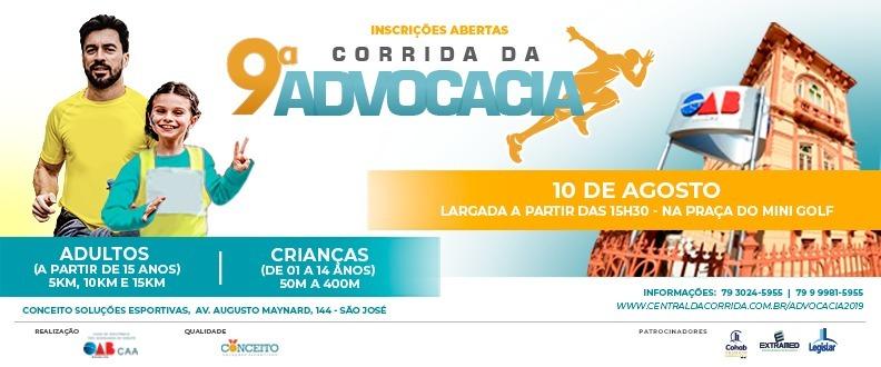 9ª CORRIDA DA ADVOCACIA E 4ª CORRIDA KIDS