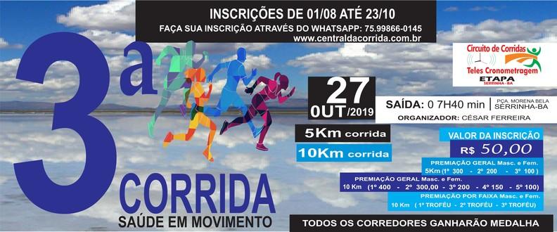 3ª CORRIDA SAÚDE EM MOVIMENTO 2019
