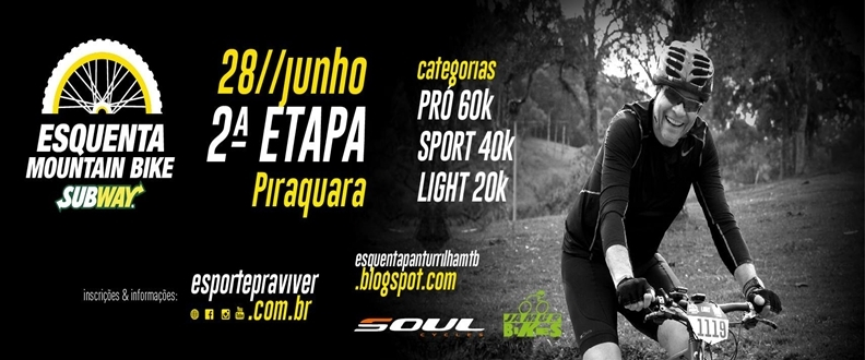 ESQUENTA MOUNTAIN BIKE SUBWAY® -2ª ETAPA-PIRAQUARA