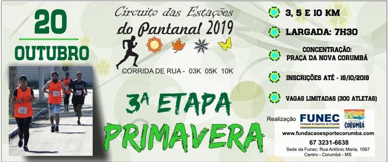 3º ETAPA - PRIMAVERA - CIRCUITO DAS ESTAÇÕES