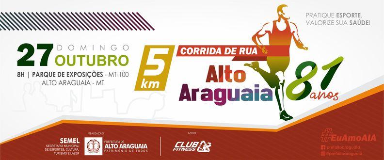 Corrida de Rua Alto Araguaia 81 anos