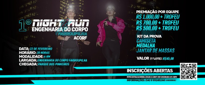 1ª NIGHT RUN ENGENHARIA DO CORPO