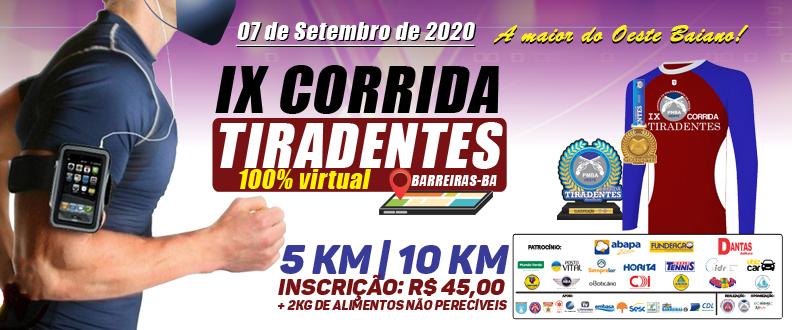 IX CORRIDA TIRADENTES BARREIRAS BAHIA - VIRTUAL