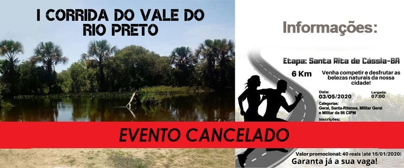 I Corrida do Vale do Rio Preto - Etapa Santa Rita